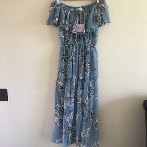NWT Chicwish floral maxi dress